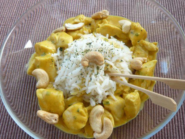 Aiguillettes de poulet coco-curry